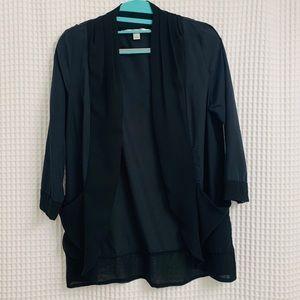 LC Lauren Conrad Women's Black Blazer/cardigan